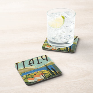 Vintage Italy Poster Coaster