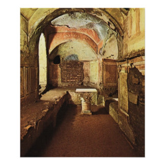 Vintage Italy, Rome, Catacombs of Priscilla Poster