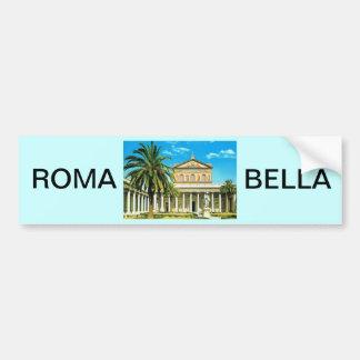 Vintage Italy,  Rome, S Paulo fuori les mura Bumper Sticker