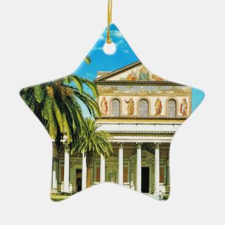 Vintage Italy,  Rome, S Paulo fuori les mura Ceramic Ornament
