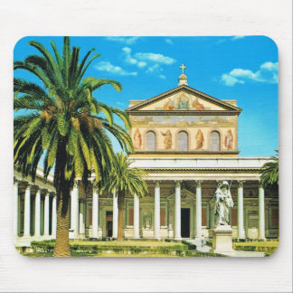 Vintage Italy,  Rome, S Paulo fuori les mura Mouse Pad