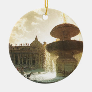 Vintage Italy, Rome, Vatican, St Peter's Ceramic Ornament