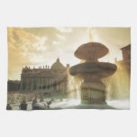 Vintage Italy, Rome, Vatican, St Peter's Hand Towels