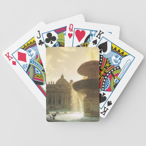 Vintage Italy, Rome, Vatican, St Peter's Bicycle Poker Cards