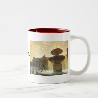 Vintage Italy, Rome, Vatican, St Peter's Two-Tone Coffee Mug