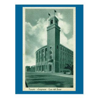 Vintage Italy, Taranto Lungemare Case del Fascio Postcard