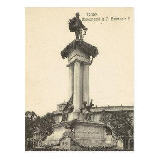 Vintage Italy, Torino, Vittorio Emmanuelle II Postcard