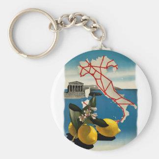 Vintage Italy Travel Basic Round Button Keychain