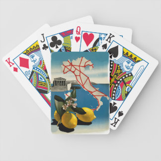 Vintage Italy Travel Bicycle Playing Cards