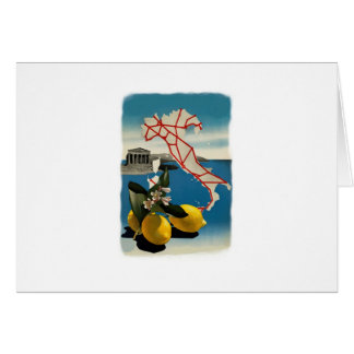 Vintage Italy Travel Card