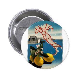 Vintage Italy Travel Pinback Button