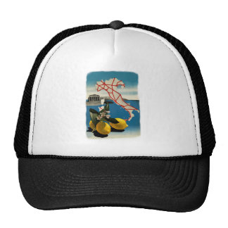 Vintage Italy Travel Trucker Hat