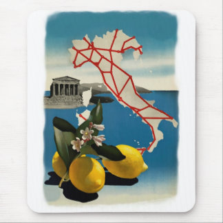 Vintage Italy Travel Vertical Mousepad