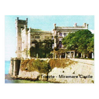 Vintage Italy, Trieste, Miramare Castle Postcard