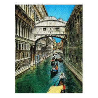Vintage Italy, Venice, Bridge of Sighs Postcard