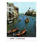 Vintage Italy,  Venice, Grand Canal, gondolas Postcard