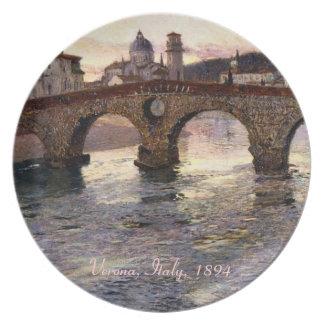 Vintage Italy (Verona, Circa 1894) Dinner Plate