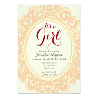 its a girl baby shower invitations announcements zazzle