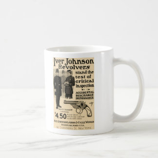Vintage Iver Johnson Revolver Gun Ad Coffee Mug