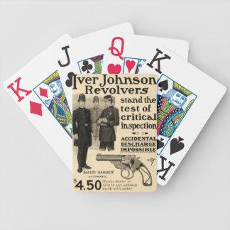 Vintage Iver Johnson Revolver Gun Ad Playing Cards