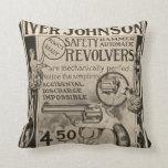 Vintage Iver Johnson Revolver Home Decor Pillow