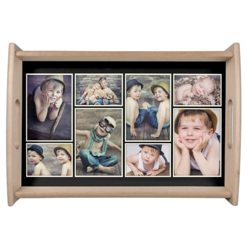 Vintage Ivory Framed Photo Collage Tray