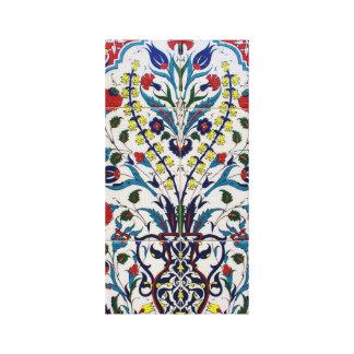 Vintage Iznik Ottoman Ceramic Tile Canvas Print