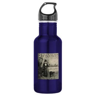Vintage J Stevens Victorian Lady Ad 18oz Water Bottle