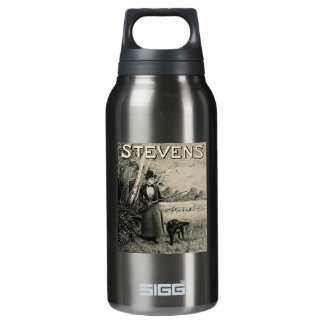 Vintage J Stevens Victorian Lady Ad Thermos Water Bottle