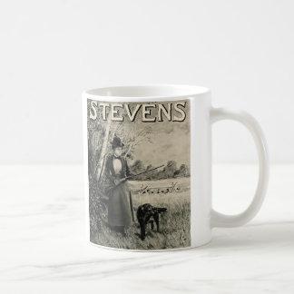 Vintage J Stevens Victorian Lady Gun Ad Coffee Mug