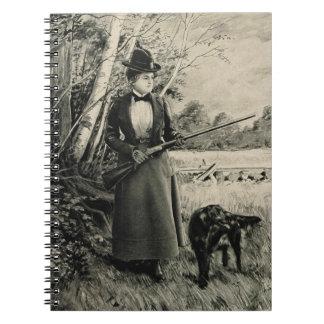 Vintage J Stevens Victorian Lady Gun Ad Notebook
