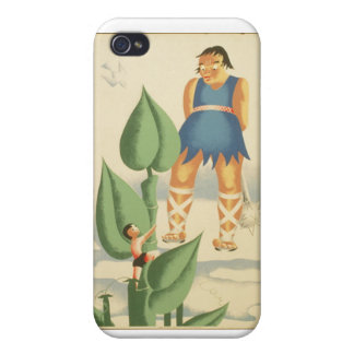 Vintage Jack and the Beanstalk WPA Poster Cover For iPhone 4