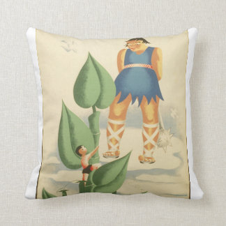 Vintage Jack and the Beanstalk WPA Poster Pillow