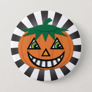 Vintage Jack O Lantern Button