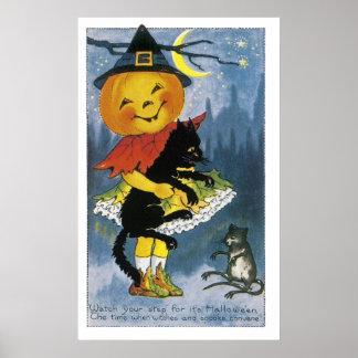 Vintage Jack o' Lantern Child Poster