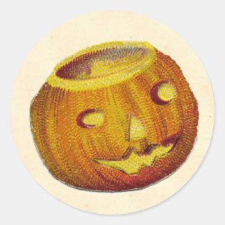 Vintage Jack O Lantern Classic Round Sticker