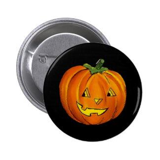 Vintage Jack O Lantern Round Button