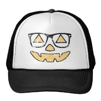 Vintage Jack-O-Lantern With Glasses Halloween Hat
