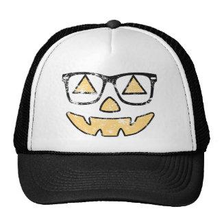 Vintage Jack-O-Lantern With Glasses Halloween Hat