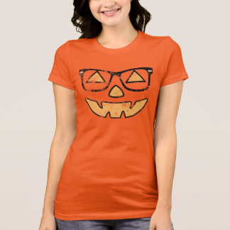 Vintage Jack-O-Lantern With Glasses Halloween T-Shirt