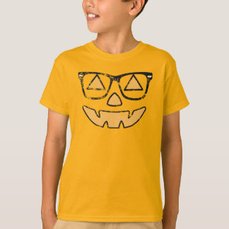 Vintage Jack-O-Lantern With Glasses Kids T-shirt