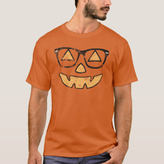 Vintage Jack O Lantern With Glasses T-shirt