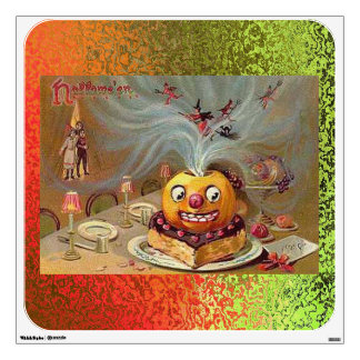 Vintage Jack o'Lantern with Witches Wall Decal