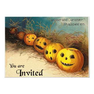 Vintage Jack O'Lanterns Halloween Invitation