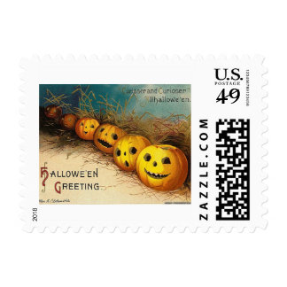 Vintage Jack O'Lanterns Halloween Stamp