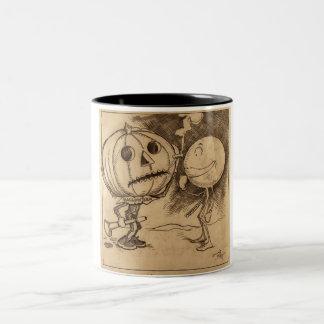 Vintage Jack o'Lanterns Talking Two-Tone Coffee Mug