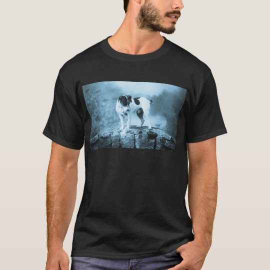 Vintage Jack Russell Cyan Tone T-Shirt