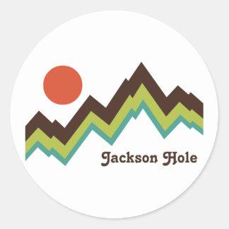 Vintage Jackson Hole Classic Round Sticker