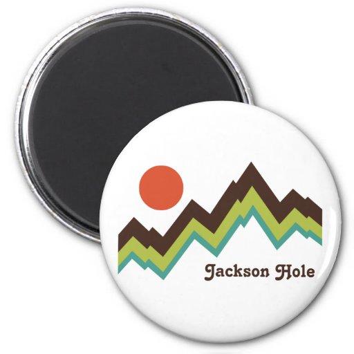 Vintage Jackson Hole Imán Redondo 5 Cm