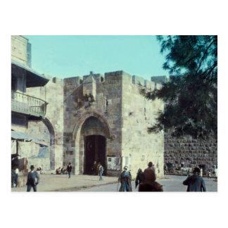 Vintage Jaffa Gate Jerusalem Israel 1950 - 77 Postcard